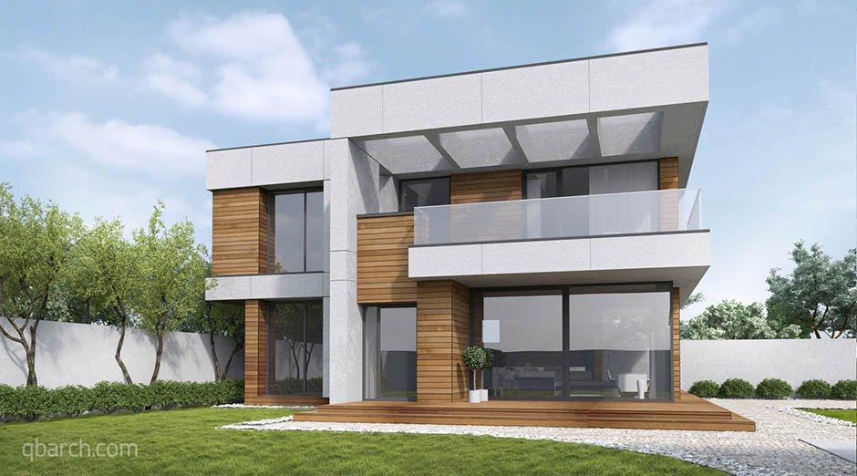Проект дома в современном стиле в Крыму, архитектурная мастерская qbarchitecture, Кирилл Бабеев