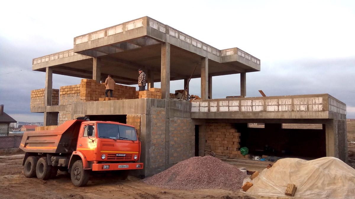 Строительство дома в современном стиле в Симферополе