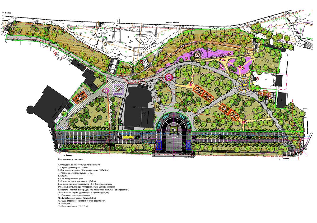 Проект Екатерининского Сада в Симферопполе
